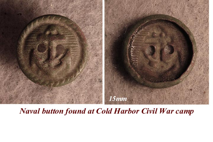 Possible Civil War Naval Button? - Friendly Metal Detecting